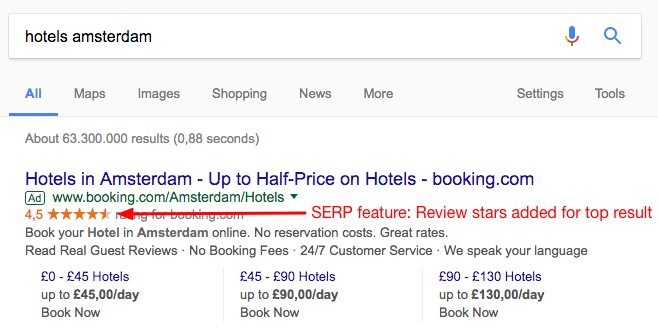 Seo guide: SERp feature example